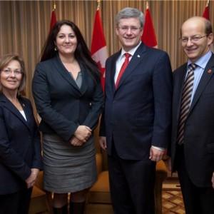 2011-11-28 - pic with Sen, Barbara, PM and Sen. Carrignan_103207