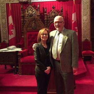 Senate visit with QCGN VP James Shea